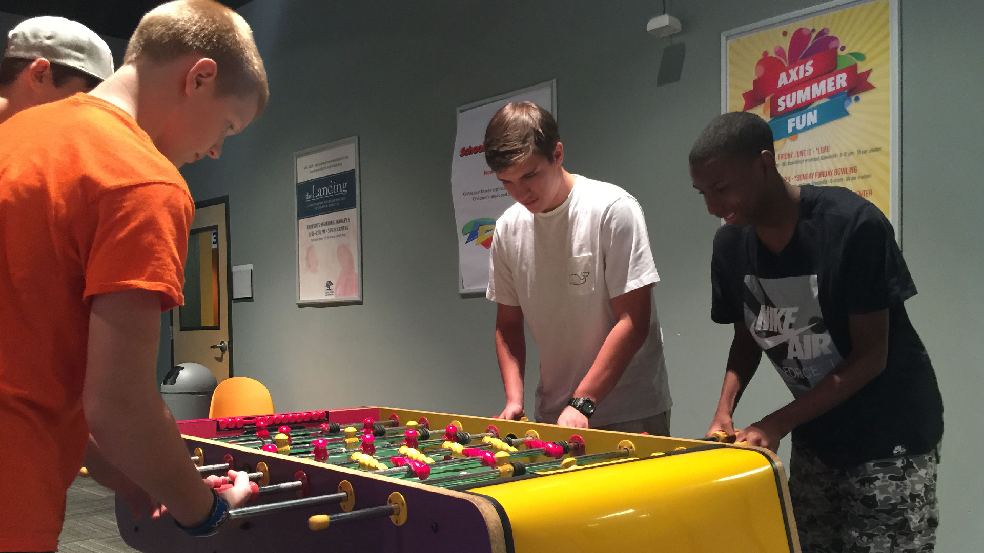 A group of kids playing games at a Brookwood Church Event